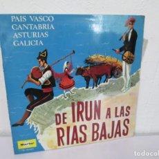 Discos de vinilo: DE IRUN A LAS RIAS BAJAS. AIRES DEL NORTE. LP VINILO. MARFER IBEROFON 1968.. Lote 169335144