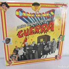 Discos de vinilo: CANCIONES PARA DESPUES DE UNA GUERRA. BANDA SONORA. FILM DE BASILIO MARTIN PATINO. 2 DISCOS VINILO. Lote 169365396