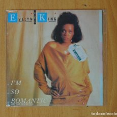 Discos de vinilo: EVELYN KING - I'M SO ROMANTIC / TEENAGER - SINGLE. Lote 169399317