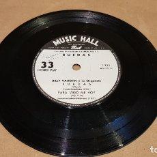 Discos de vinilo: SOLO DISCO !! BILLY VAUGHN / LAWRENCE WELK / EP-33 RPM-ARGENTINA / MBC. *** / SIN CARPETA.. Lote 169402212