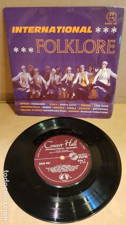 INTERNATIONAL FOLKLORE / EP - CONCERT HALL-1966 / 8 TEMAS / MBC. ***/*** (Música - Discos de Vinilo - EPs - Country y Folk)
