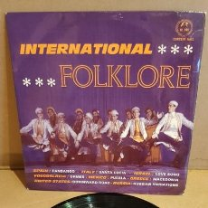 Discos de vinilo: INTERNATIONAL FOLKLORE / EP - CONCERT HALL-1966 / 8 TEMAS / MBC. ***/***. Lote 169404688