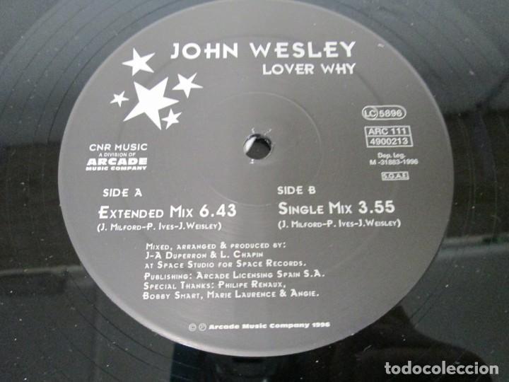 Discos de vinilo: JOHN WESLEY. LOVER WHY. LP VINILO. ARCADE MUSIC 1996. VER FOTOGRAFIAS ADJUNTAS - Foto 4 - 169408904