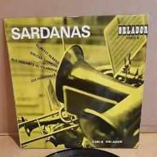 Discos de vinilo: COBLA ORLADOR / SARDANAS / EP - ORLADOR-1963 / MBC. ***/***. Lote 169409828