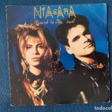 Discos de vinilo: NIAGARA – QUAND LA VILLE DORT LABEL: POLYDOR ?– 885 726-7 FORMAT: VINYL, 7 , 45 RPM, SINGLE . Lote 169412996