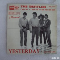 Discos de vinilo: THE BEATLES, HELP, YESTERDAY, EP EDICION ESPAÑOLA 1965 ODEON. Lote 169429172