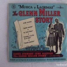 Discos de vinilo: THE GLENN MILLER STORY, MUSICA Y LAGRIMAS. EP EDICION ESPAÑOLA AÑOS 60. COLUMBIA. Lote 169429532