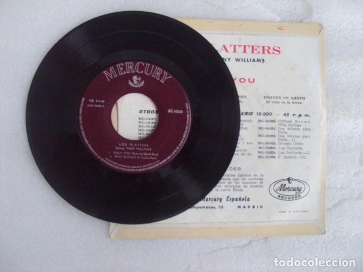 Discos de vinilo: THE PLATTERS, ONLY YOU, EP EDICION ESPAÑOLA AÑOS 60-70 MERCURY - Foto 4 - 169430120