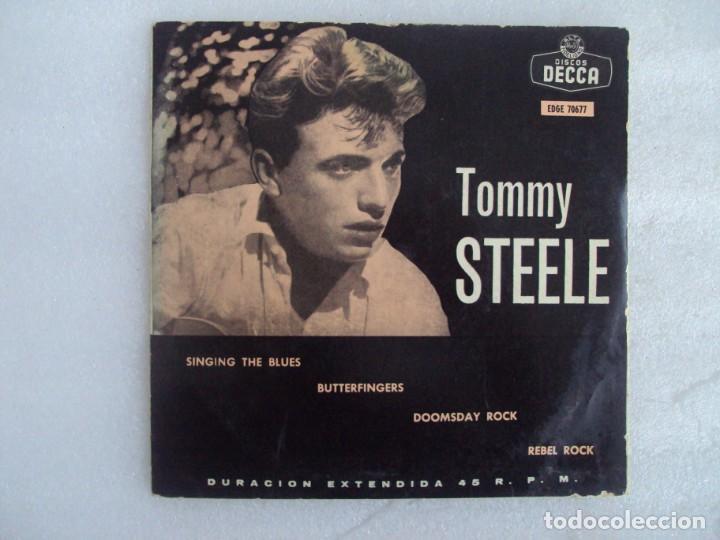 TOMMY STEELE. SINGING THE BLUES. EP EDICION ESPAÑOLA AÑOS 60-70 DISCOS DECCA (Música - Discos de Vinilo - EPs - Pop - Rock Extranjero de los 70)