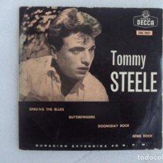 Discos de vinilo: TOMMY STEELE. SINGING THE BLUES. EP EDICION ESPAÑOLA AÑOS 60-70 DISCOS DECCA. Lote 169430808