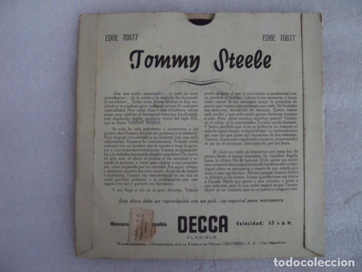 Discos de vinilo: TOMMY STEELE. SINGING THE BLUES. EP EDICION ESPAÑOLA AÑOS 60-70 DISCOS DECCA - Foto 2 - 169430808