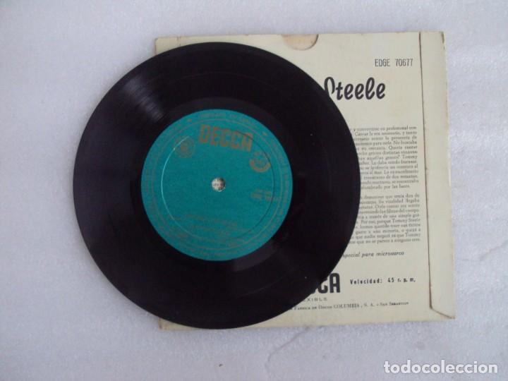 Discos de vinilo: TOMMY STEELE. SINGING THE BLUES. EP EDICION ESPAÑOLA AÑOS 60-70 DISCOS DECCA - Foto 3 - 169430808