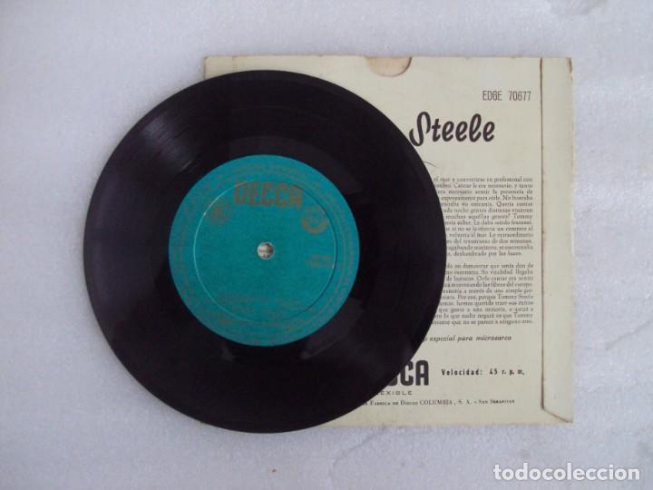 Discos de vinilo: TOMMY STEELE. SINGING THE BLUES. EP EDICION ESPAÑOLA AÑOS 60-70 DISCOS DECCA - Foto 4 - 169430808