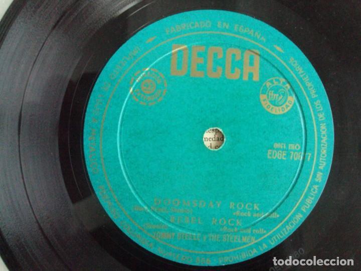 Discos de vinilo: TOMMY STEELE. SINGING THE BLUES. EP EDICION ESPAÑOLA AÑOS 60-70 DISCOS DECCA - Foto 5 - 169430808