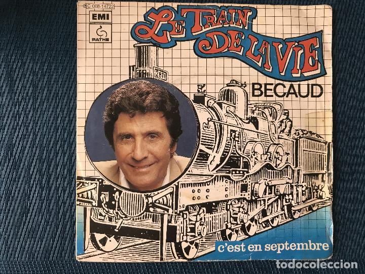 GILBERT BÉCAUD – LE TRAIN DE LA VIE LABEL: PATHÉ MARCONI EMI ?– 4C006-14722 FORMAT: VINYL, 7 (Música - Discos - Singles Vinilo - Canción Francesa e Italiana)