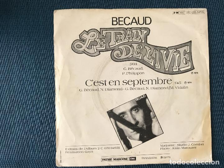 Discos de vinilo: Gilbert Bécaud – Le Train De La Vie Label: Pathé Marconi EMI ?– 4C006-14722 Format: Vinyl, 7 - Foto 2 - 169442620