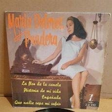 Discos de vinilo: MARIA DOLORES PRADERA / LA FLOR DE LA CANELA / EP - ZAFIRO-1961 / MBC. ***/***. Lote 169555756