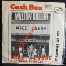 Discos de vinilo: MIKE LAURE // LA BANDA BORRACHA // 1966 .SINGLE. Lote 169560592