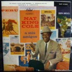 Discos de vinilo: NAT KING COLE // YO VENDO UNOS OJOS VERDES+3// 1960. EP. Lote 169560896