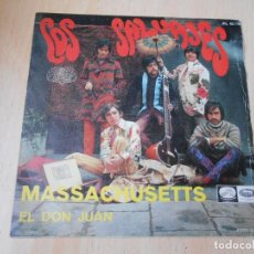 Discos de vinilo: LOS SALVAJES, SG, MASSACHUSETTS + 1, AÑO 1967. Lote 169561380