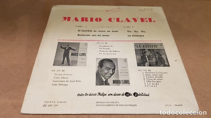 Discos de vinilo: MARIO CLAVEL / EL HOMBRE ES COMO UN AUTO / EP - PHILIPS-1962 / MBC.***/*** - Foto 2 - 169564428