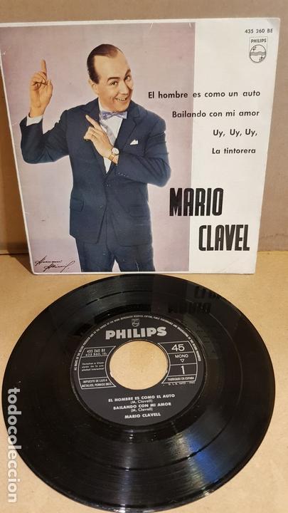 MARIO CLAVEL / EL HOMBRE ES COMO UN AUTO / EP - PHILIPS-1962 / MBC.***/*** (Música - Discos de Vinilo - EPs - Solistas Españoles de los 50 y 60)