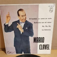 Discos de vinilo: MARIO CLAVEL / EL HOMBRE ES COMO UN AUTO / EP - PHILIPS-1962 / MBC.***/***. Lote 169564428