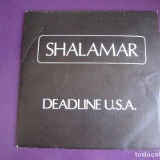 Discos de vinilo: SHALAMAR - DEADLINE U.S.A. + GARY US BONDS - ONE MORE TIME SG WEA 1984 - GIORGIO MORODER - BSO CINE . Lote 169576476