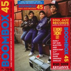 Discos de vinilo: BOX 5X7'' VARIOUS ‎– BOOMBOX 45 (EARLY INDEPENDENT HIP HOP, ELECTRO AND DISCO RAP 1979-82). Lote 169576944