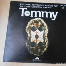 Discos de vinilo: THE WHO - TOMMY -, SG, LISTENING TO YOU + 1, AÑO 1975. Lote 169582080