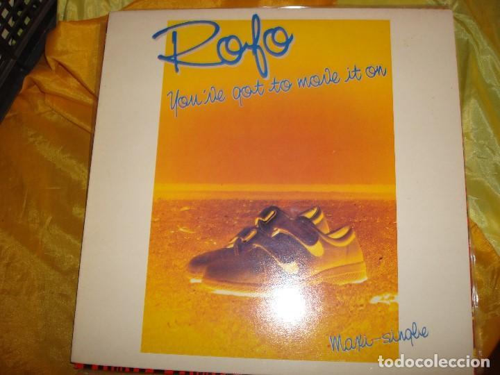 ROFO. YOU´VE GOT TO MOVE IT ON. EPIC, 1984. MAXI-SINGLE. IMPECABLE (#) (Música - Discos - LP Vinilo - Electrónica, Avantgarde y Experimental)