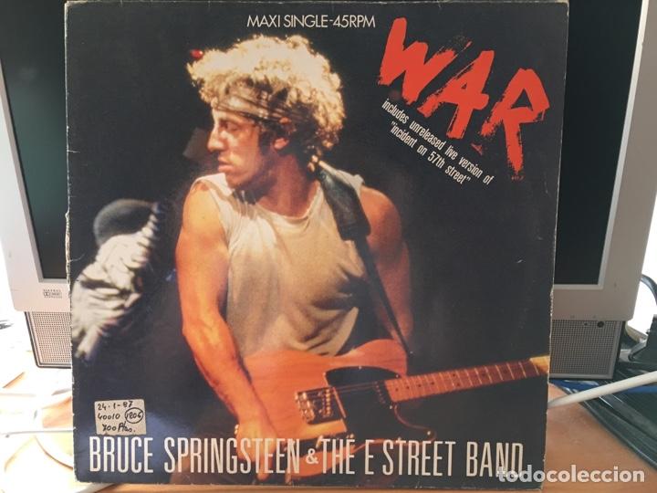 BRUCE SPRINGSTEEN & THE E STREET BAND – WAR (MAXI 3 CANCIONES) (Música - Discos de Vinilo - Maxi Singles - Rock & Roll)