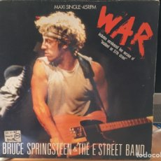Discos de vinilo: BRUCE SPRINGSTEEN & THE E STREET BAND ‎– WAR (MAXI 3 CANCIONES) . Lote 169595524