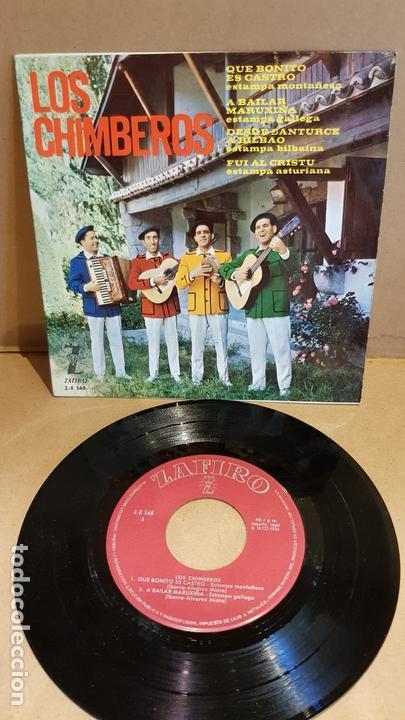 LOS CHIMBEROS / QUE BONITO ES CASTRO / EP - ZAFIRO-1964 / MBC. ***/*** (Música - Discos de Vinilo - EPs - Country y Folk)