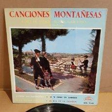Discos de vinilo: CORO DE SNIACE-RONDA GARCILASO / CANCIONES MONTAÑESAS / EP - REGAL-1958 / MBC. ***/***. Lote 169626308