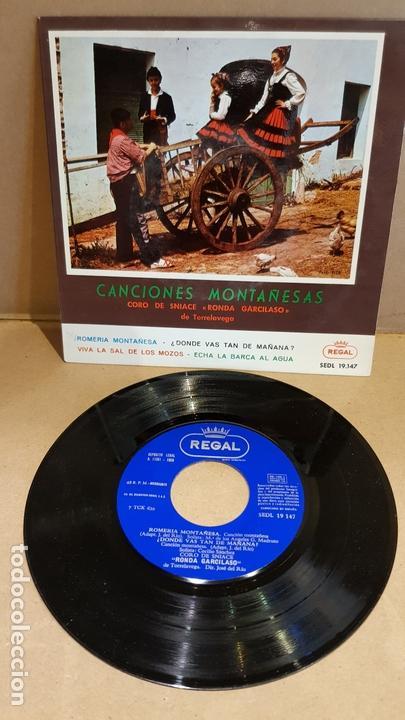 CORO DE SNIACE-RONDA GARCILASO / CANCIONES MONTAÑESAS / EP - REGAL-1958 / MBC. ***/*** (Música - Discos de Vinilo - EPs - Country y Folk)