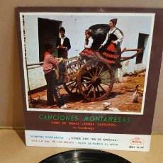 Discos de vinilo: CORO DE SNIACE-RONDA GARCILASO / CANCIONES MONTAÑESAS / EP - REGAL-1958 / MBC. ***/***. Lote 169628956