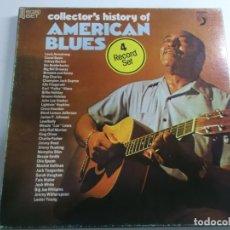 Discos de vinilo: COLLECTOR'S HISTORY OF AMERICAN BLUES, 4 LPS ED AMERICANA. Lote 169630184