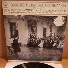 Discos de vinilo: PABLO CASALS / CONCIERTO EN LA CASA BLANCA / JOHN F. KENNEDY / LP-CBS-1970 / MBC. ***/***. Lote 169640380