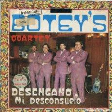 Dischi in vinile: BOTEY'S QUARTET / DESENGAÑO / MI DESCONSUELO (SINGLE 1972) CON INSERT. Lote 169643268