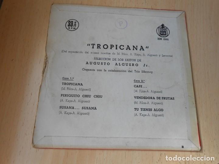 Discos de vinilo: AUGUSTO ALGUERÓ JR., EP, TROPICANA + 5, AÑO 1959 - Foto 2 - 169643528