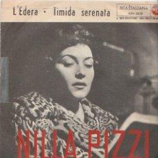 Discos de vinilo: NILLA PIZZI L'EDERA /TIMIDA SERENATA RCA ITALIANA SANREMO 58 COVER FACE B IMBRUNITA . Lote 169662428