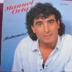 Discos de vinilo: LP SEVILLANAS - MANUEL ORTA - BOHEMIO (SPAIN, FODS RECORDS 1990). Lote 169682696