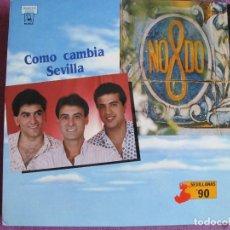 Discos de vinilo: LP SEVILLANAS - NODO (NO-MADEJA-DO) - COMO CAMBIA SEVILLA (SPAIN, DISCOS HORUS 1990). Lote 195130323