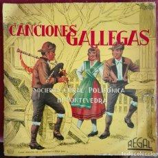 Discos de vinilo: SOCIEDAD CORAL POLIFÓNICA DE PONTEVEDRA. CANCIONES GALLEGAS. 1958. Lote 169702664