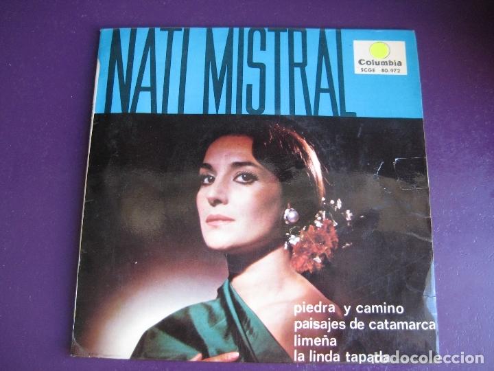 NATI MISTRAL EP COLUMBIA 1965 PIEDRA Y CAMINO/ PAISAJES DE CATAMARCA +2 ZAMBRA VALS SUDAMERICA (Música - Discos de Vinilo - EPs - Flamenco, Canción española y Cuplé)