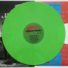 Discos de vinilo: (AUTOGRAFIADO) THE JON SPENCER BLUES EXPLOSION - FREEDOM TOWER LP - VINILO VERDE. Lote 169727256