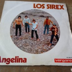 Discos de vinilo: LOS SIREX–ANGELINA / QUIERO VER A DIOS . SINGLE 1970.. Lote 169728178
