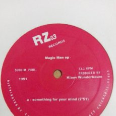 Discos de vinilo: MAGIC MAN EP RZ RECORDS – RZ03. 2003. ACID HOUSE. COMO NUEVO. Lote 169732436