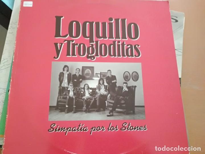 LOQUILLO Y LOS TROGLODITAS SIMPATIA POR LOS STONES MAXI 1991 (Música - Discos de Vinilo - Maxi Singles - Grupos Españoles de los 70 y 80)